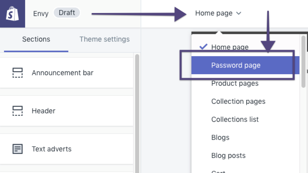 WeTheme - Customising the Password Page Template