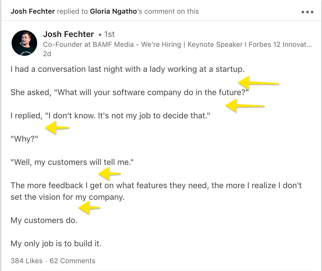 Content Writing on LinkedIn - Josh Fechter